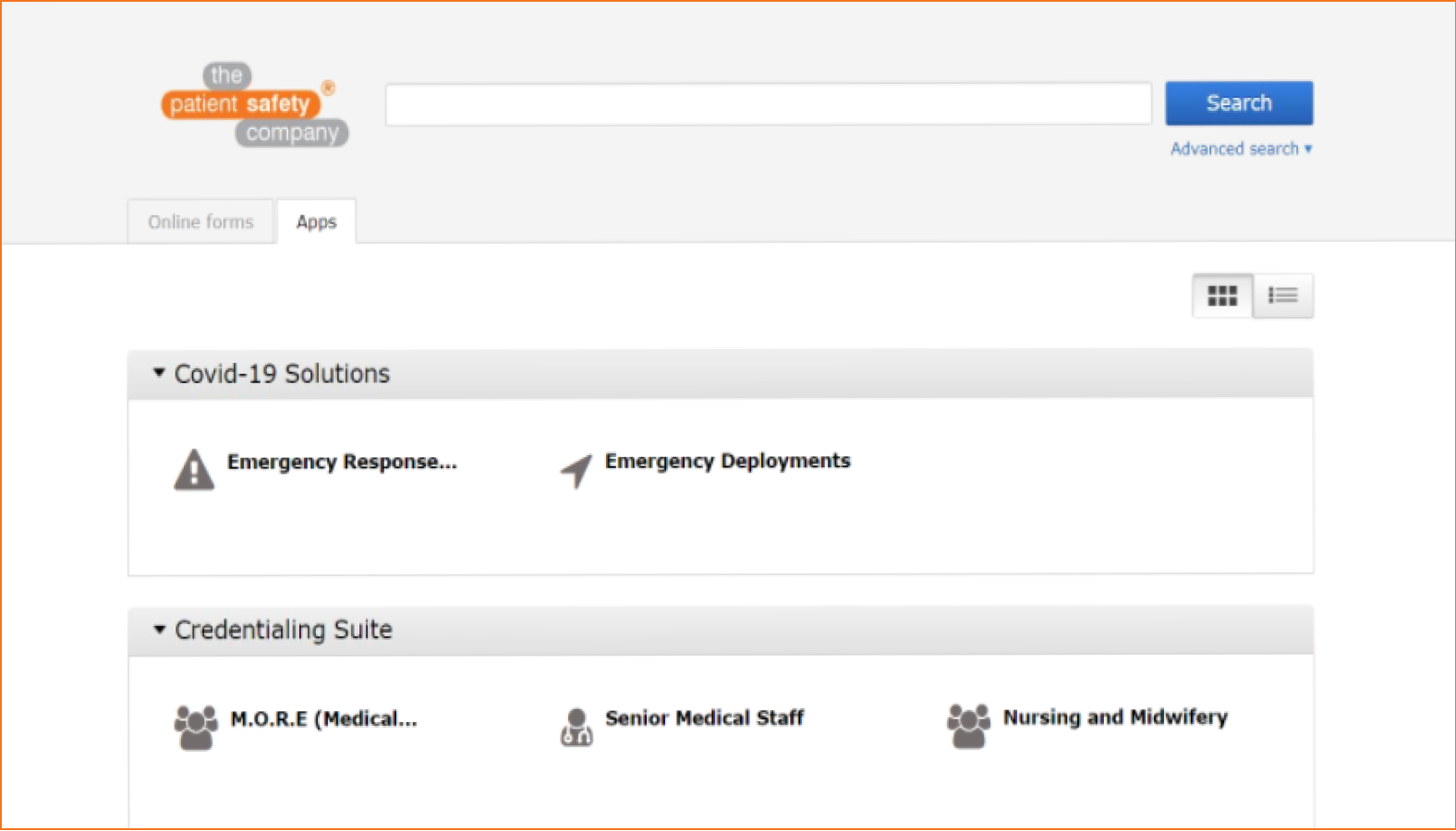 COVID-19 Crisis Response application